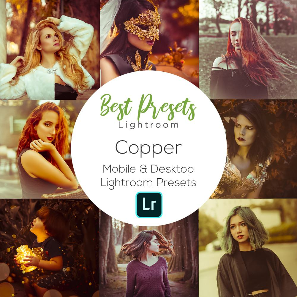 Copper style lightroom presets - moody brown lightroom preset